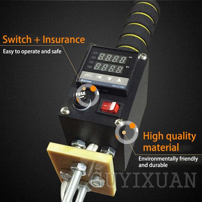 LISM 500 W Tragbare Heißer Stanzen Maschine Leder Stanzen Maschine Holz Marke IPPC Branding Einstellbare Temperatur