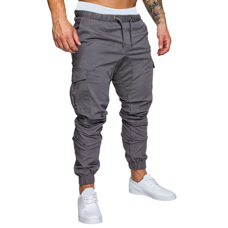 caeaf562913 2019 LASPERAL Solid Plus Size Men S Brand Long Pant Cargo Pants ...