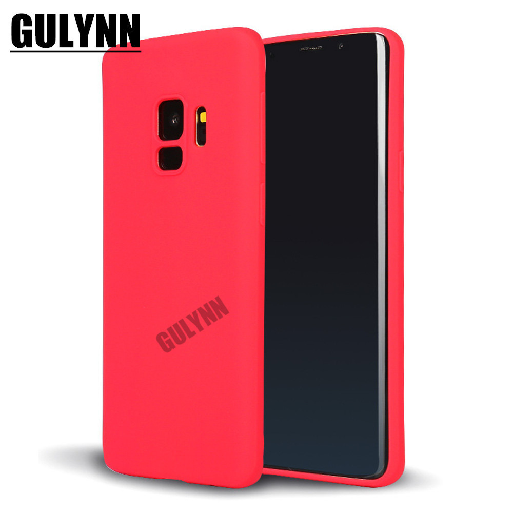 Phone Case For Samsung Galaxy A6 A8 S8 S9 Plus Note 8 9 A3 A5 A7 J2 J3 4 J5 J6 J7 J8 2017 2018 Candy Colors Soft Silicon Cover in Fitted Cases from Cellphones Telecommunications