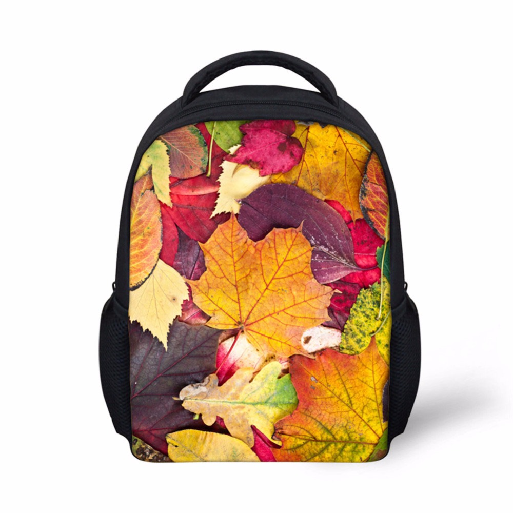 Noisydesigns Cool Children School Bags 3D maple leaf floral Print School Bag for Teenagers Girls Cool Kids Schoolbag Book Bags