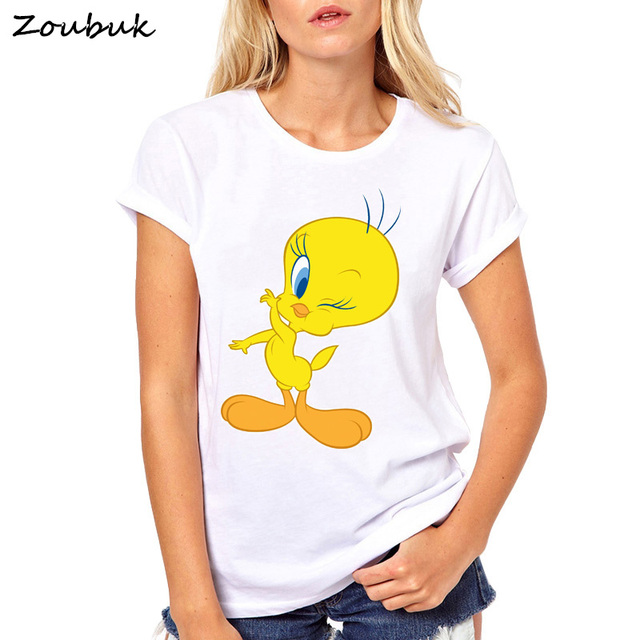 2018 High Quality Cotton Looney Tunes Tweety Bird Funny T Shirt for