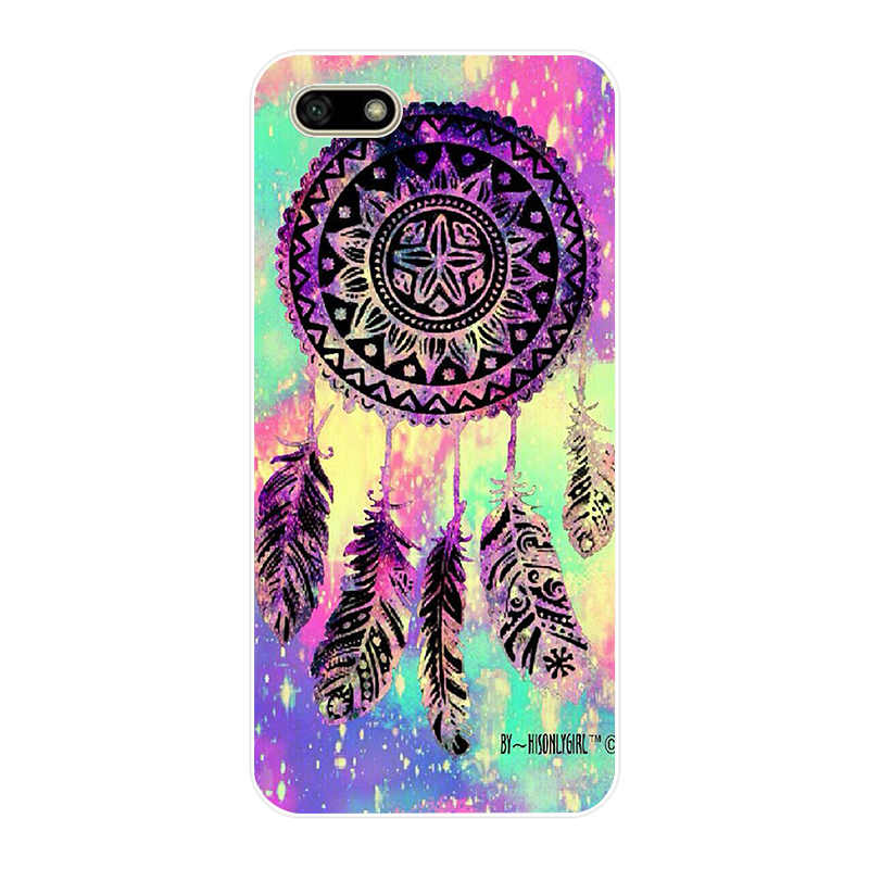 199H Catcher Feather Stars Christmas Colorful Soft Silicone Tpu Cover Case For Huawei Honor 7A Pro 7X Play Case