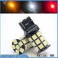 2 unids/lote W21W T20 Bombillas LED 27 SMD 5050 Luces de Circulación Diurna Luces de Conducción Lámparas de Señal Inversa 7440 blanco/rojo/amarillo