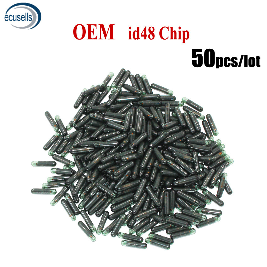 SALE 50PCS LOT Original OEM ID48 Glass Chip Auto Transponder Car Blank Key Chip