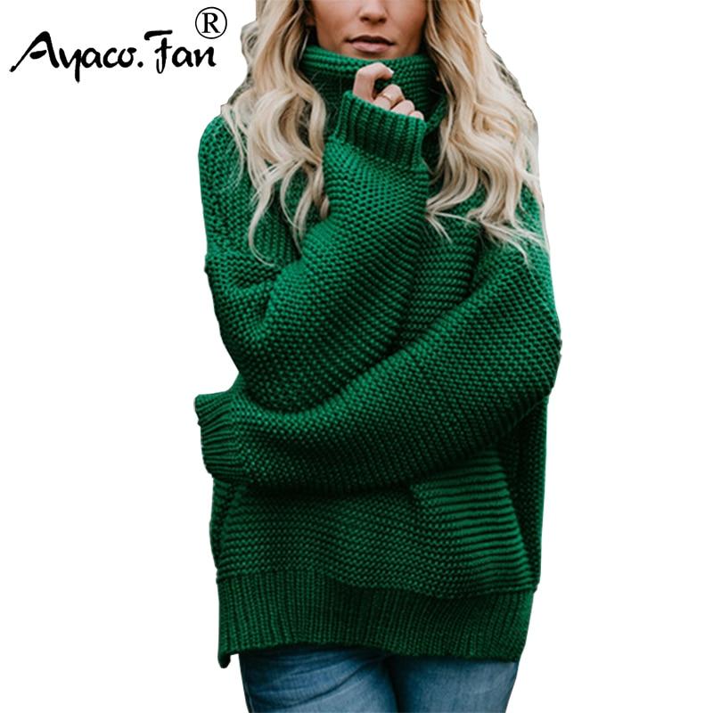 2018 herbst frauen beiläufige streifen pullover neue Koreanische halb stehkragen laterne ärmel strickpullover lose dicke plus größe pullover