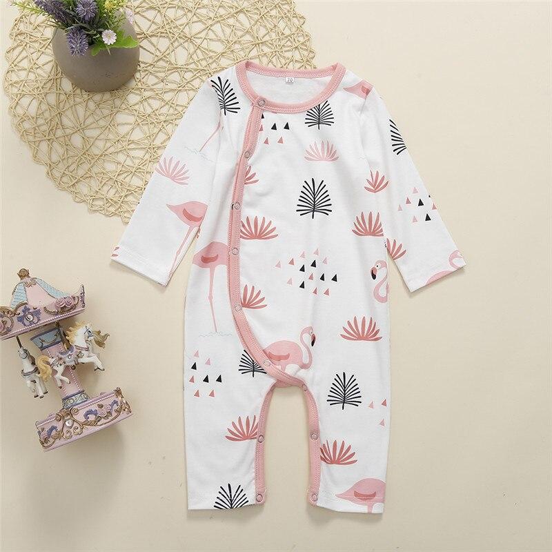0-24M Unisex Baby Sleepwear Cute Flamingo Baby Girls Rompers Sleepwear Black Long Sleeve Pants Kids Blanket Pajamas Boys Rompers