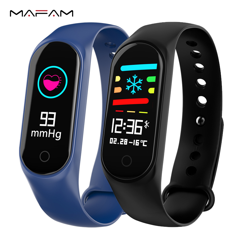 купить MAFAM Smart Bracelet Color Screen Fitness Tracker Blood Pressure Heart Rate Monitor Smart Band For IOS Android Xiaomi Smart Band по цене 763.61 рублей
