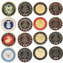Позолоченные американские ВВС/Армия/ВМС памятная монета сувенир вызов коллекционные монеты коллекция Искусство ремесло подарок