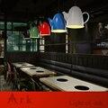 КОВЧЕГ СВЕТ 1 шт. led Чердак Промышленного Старинные красочные утюг ЧАЙНИК Персонализированные Бар Освещение подвесной светильник для кафе