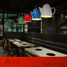 ARK LIGHT 1pcs led Loft Industrial Vintage colorful iron TEAPOT Personalized Bar Lighting pendant lamp for coffee house