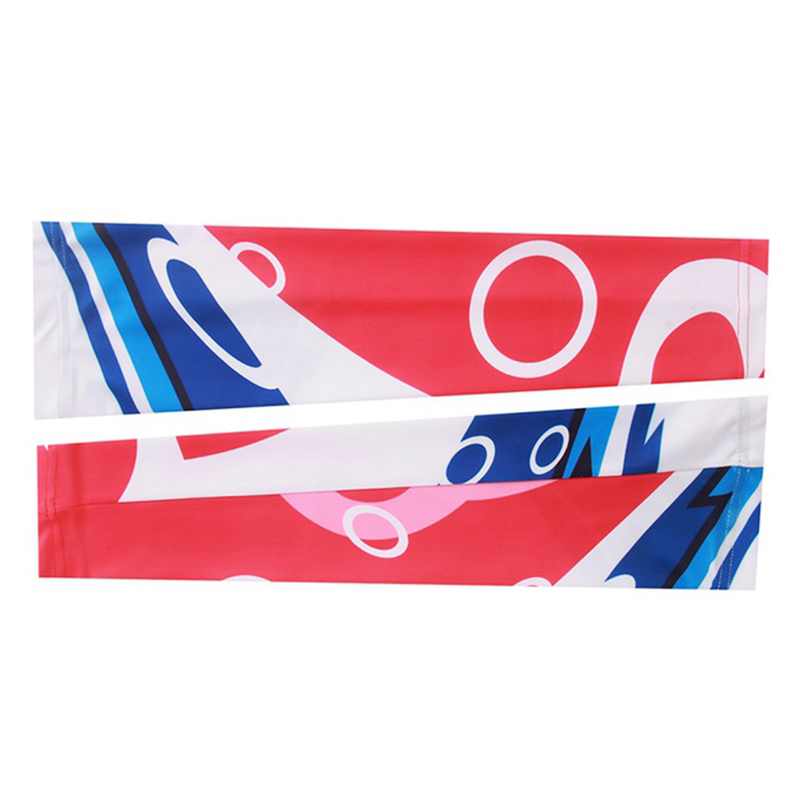 Sport Cycling Bike Bicycle Arm Cuff Sleeve Cover UV Sun Protection red+White+blue