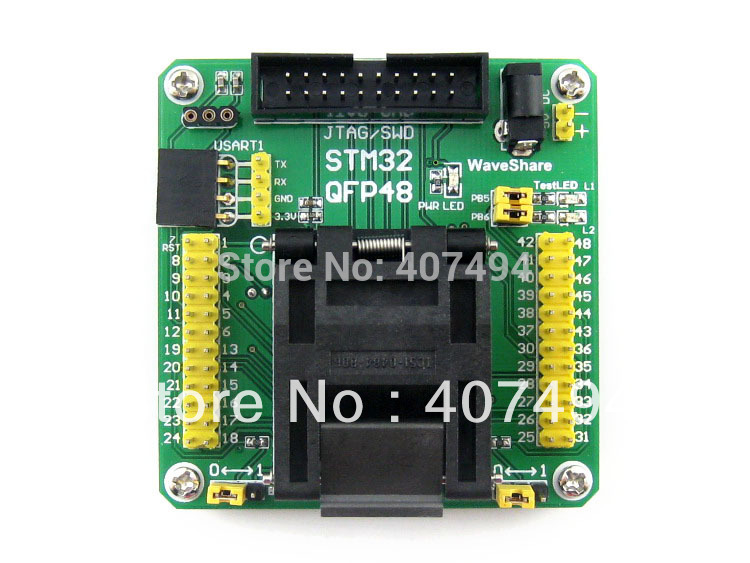 Parts STM32-QFP48 QFP48 LQFP48 STM32F10xC STM32L15xC Yamaichi STM32 IC Test Socket Programming Adapter 0.5mm Pitch vs1053b l qfp48