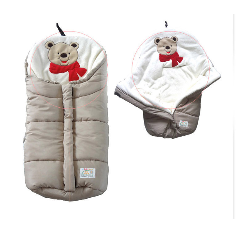 multifunctional baby sleeping bag for stroller keep warm sleeping Baby bag stroller blankets newborn Infant foot cover for pram infant baby sleeping bag baby blankets quilt thick natural cotton sleeping bag detachable sleeves newborn swaddling clothes