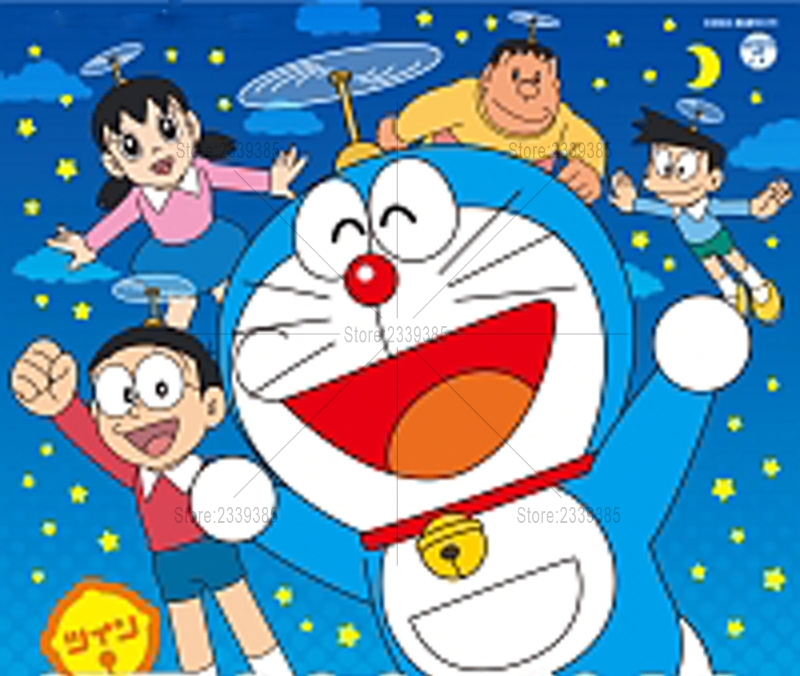 5d Diy Diamond Lukisan Doraemon Cross Stitch Diamond Bordir