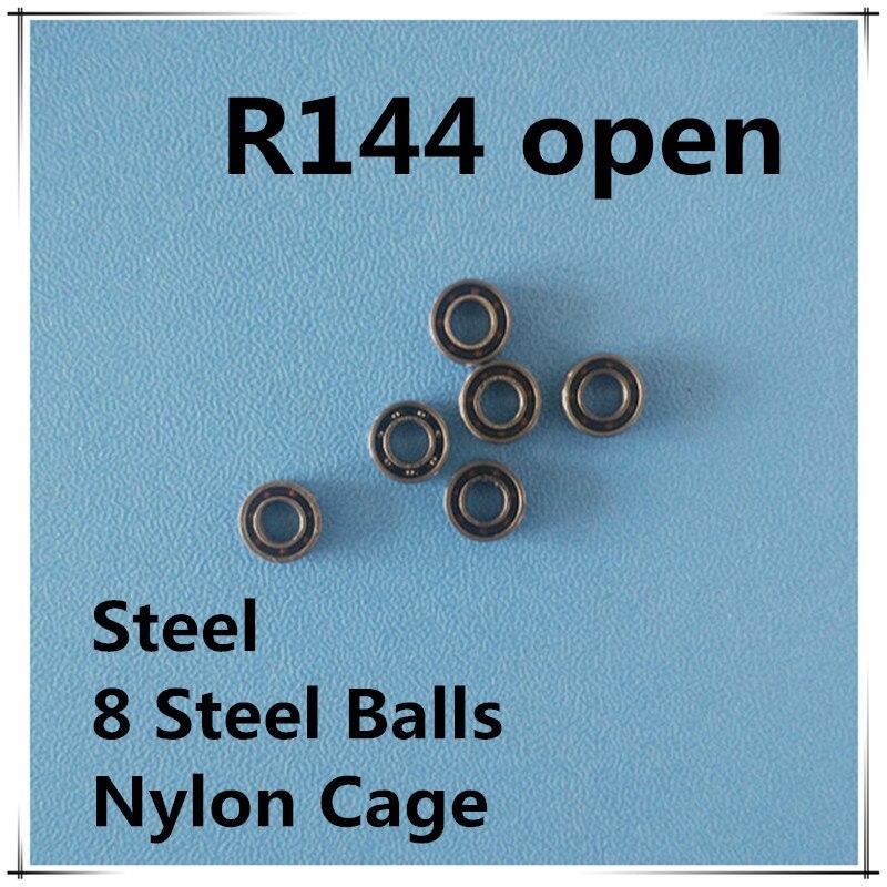 100pcs R144 Dental Handpiece Bearing 3 175 6 35 2 381 mm open miniature ball bearings