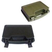ABS Storage Case Gun Pistol Pistol Case Tactical Twardego Przypadku Wyściełane Pojemniki do Polowania Airsoft Polowanie Akcesoria Carry