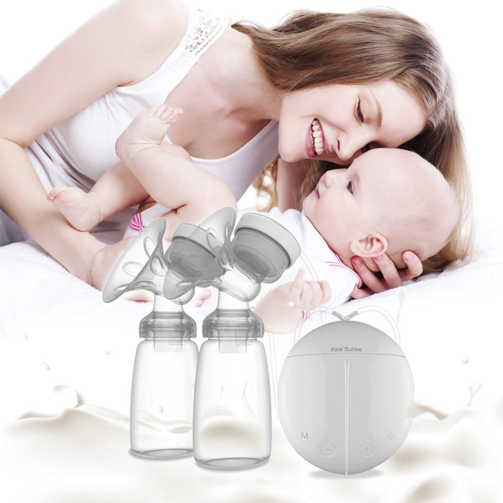 (SHIP NOW) Double Electric Breast Pumps Portable USB Electric Breast Pump With Automatic Mode & Breast Powerful Milk Sucker