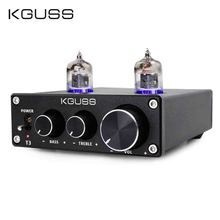 KGUSS Amplificador de tubo T3 MINI Bile 6J1, preamplificador de Audio HIFI, agudos, ajuste de graves, preamperios DC12V