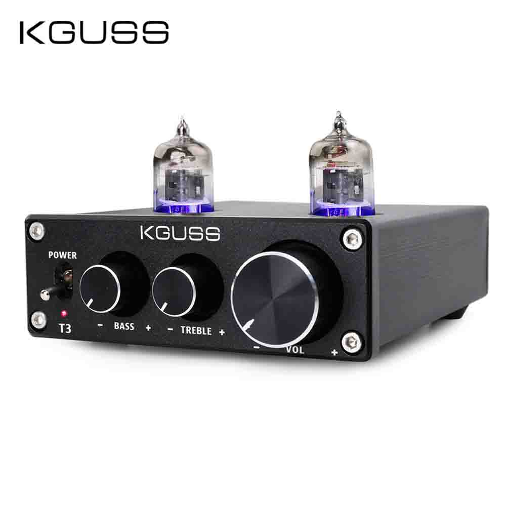 KGUSS T3 MINI Bile 6J1 Preamp Tube Amplifier Buffer HIFI Audio Preamplifier Treble Bass Adjustment Pre-amps DC12VKGUSS T3 MINI Bile 6J1 Preamp Tube Amplifier Buffer HIFI Audio Preamplifier Treble Bass Adjustment Pre-amps DC12V