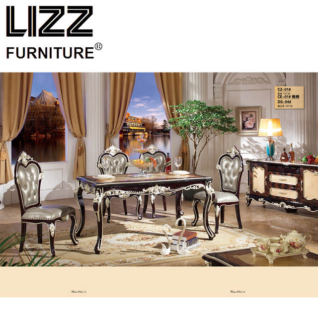 Placeholder Chesterfield Dining Chair Marble Table Living Room Furniture Set Royal Antique Style Side