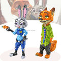 Large size building blocks figures building model bricks zootopia Nick Wilde fox & Judy Hopps rabbit DIY BLOCK TOYS FOR AGES 14+
