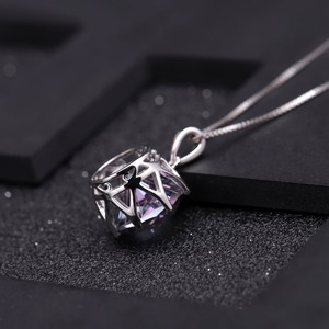 Image 4 - GEMS BALLET Classic 9.64Ct Natural Rainbow Mystic Quartz Gemstone Pendant Necklace For Women 925 Sterling Silver Fine Jewelry