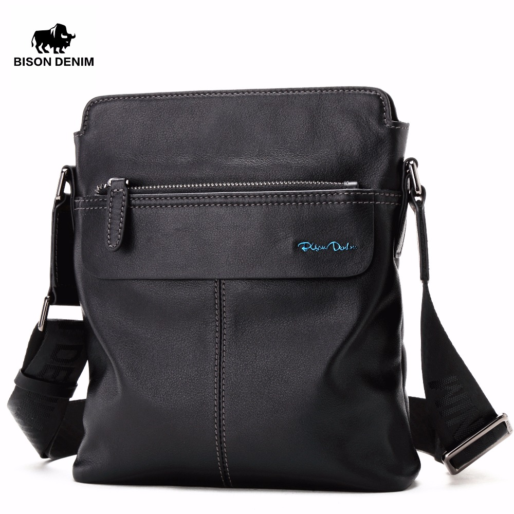 2018 New Hot Men Shoulder Bags BISON DENIM Brand Genuine Leather Messenger Bag Men's Business Casual Travel Bags Free Ship 2016 new leather men bag classical messenger bag men fashion casual business shoulder handbags for men bag hot free shipping