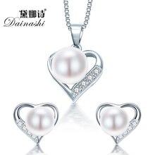 Dainashi Романтическое Сердце Серебряные Ювелирные Изделия Кулон Ожерелье & Серьги Для Женщин Подруга Жены День святого валентина Подарок