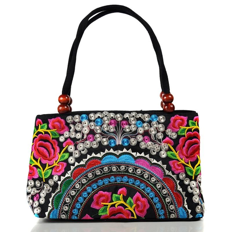 Fashion Floral Print Cotton Hand Bag Shoulder Bag Ethnic Bag Towlel Bag Handmade