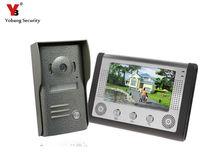 Yobang Security 7″ Video Intercom Door Phone System Night Version Video Record Door Phone intercom System with IR camera