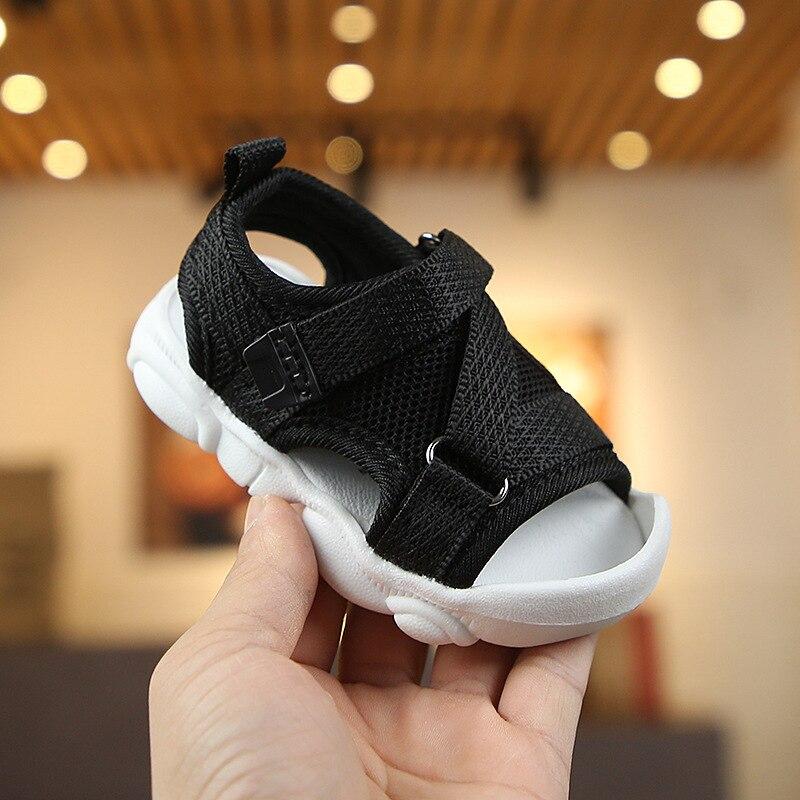 Girls Sandals 2019 Summer New Girls Non-slip Beach Shoes Sequins Soft Bottom Baby Toddler Sandals Boys Sports Sandals