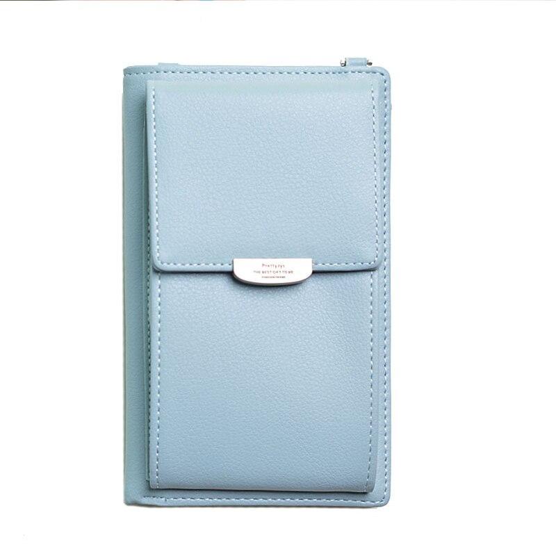 Новинка, Женский кошелек на каждый день, брендовый кошелек для мобильного телефона, большие держатели для карт, кошелек, сумочка, клатч, сумка на ремне через плечо