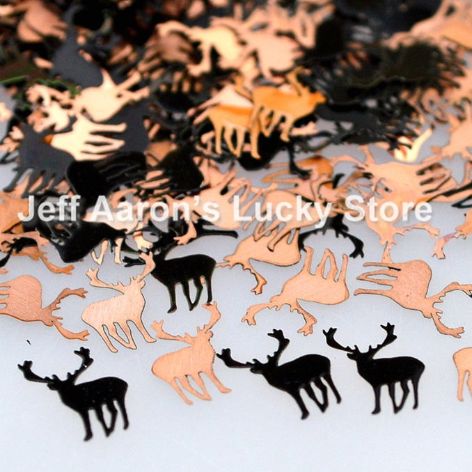 black stag metal nail foil decals