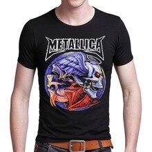 Novelty 2016 Men 3D T Shirt Nirvara Metallic Music T-shirt Skate Harajuku Funny Bob Polera blusa Iron Maiden Skull Streetwear pp