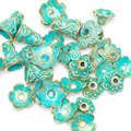 Wholesale 150pcs/lot Antique Gold And Green Beads End Caps 4-15mm Tibetan Silver plated Bead Caps Fit Jewelry Making