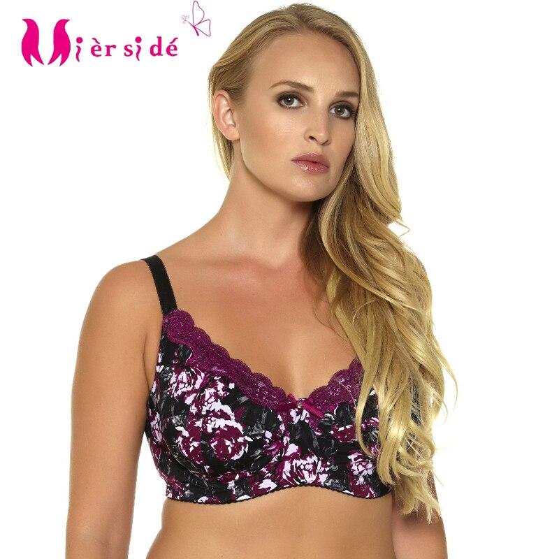Mierside 953 P Push Up Soutien-Gorge Plus La taille Sexy Soutien-Gorge lingerie Dentelle Sous-Vêtements pour Femmes Tous Les Jours Bralette 34-46 C/D/DD/DDD/E/F/G