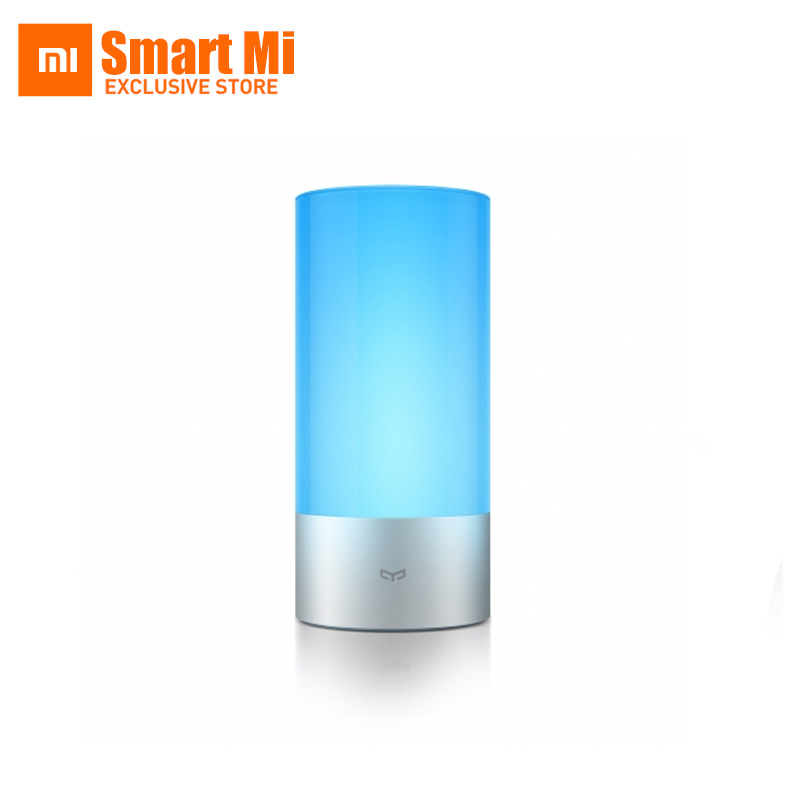 100% Original Xiaomi Yeelight Smart lamp Remote Indoor Bed Bedside Lamp 16 Million RGB Lights Touch Control Bluetooth For Phone 2016 yeelight original smart night lights indoor bedside lamp 16 million rgb lights touch control bluetooth for phone xiaomi