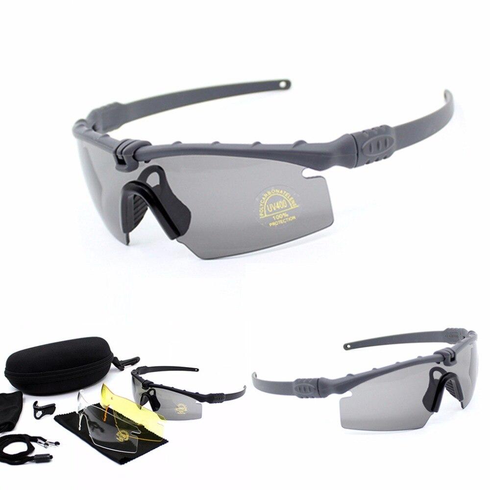 Tiro Militar 3 Sol Camuflaje Ciclismo Gafas Lente De Uv400 E29HeWIYD