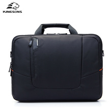 Kingsons Echte laptop-tasche Gepolsterten Tragetasche Laptop Handtasche Aktentasche Portable Wasserdicht Business Männer Frauen multifunktionale