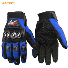 Adjustable Mens Motorcycle Gloves Full Finger Reflective Motocross Hands Wrist Protective Gear Racing Motorbike Gloves