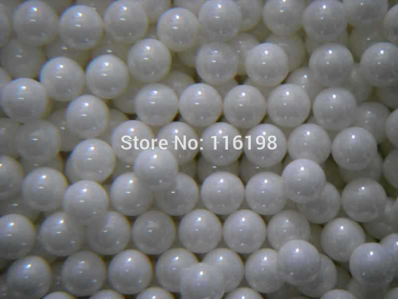100pcs 6.5mm ZrO2 ceramic balls Zirconia balls used in bearing/pump/linear slider/valvs balls used 100