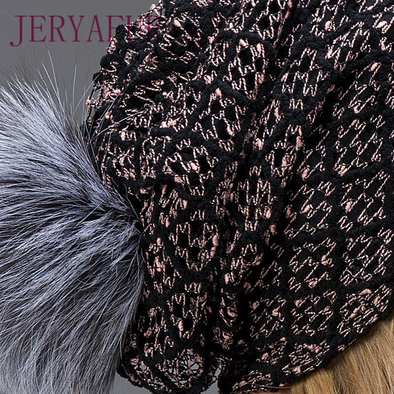 2018 hot winter hat fur loose and hollowed hat for female fashion ... 8a0af9469c78