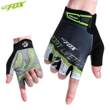 BATFOX Summer Cycling Gloves Men Half Finger Nylon Breathable Sport Bicycle Gloves Male MTB Bike Gloves guantes Ciclismo