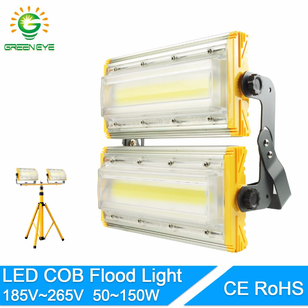 GreenEye LED Flood Light 50W 100W 150W Floodlight IP65 WaterProof LED street Lamp AC185-265V LED Outdoor Spotlight Garden Lamp