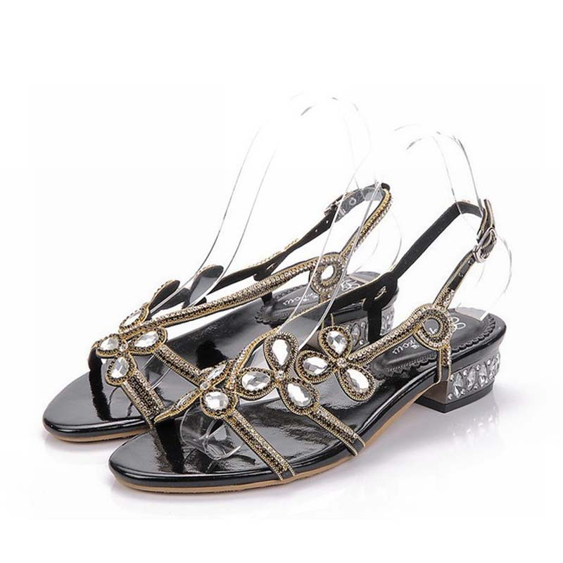 New summer shoes woman sandals rhinestone women femme valentine party shoes zapatos mujer sapato feminino sandalias plus size 44 plus size 34 44 summer shoes woman platform sandals women rhinestone casual open toe gladiator wedges women zapatos mujer shoes