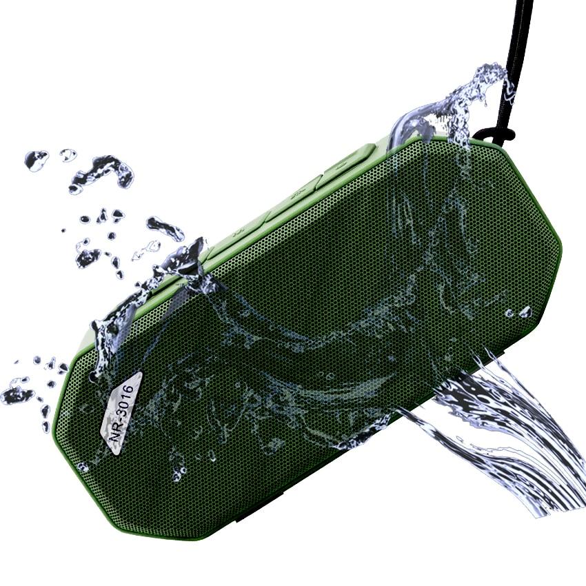 2018 New Waterproof Speaker Radio FM Bluetooth Wireless Subwoofer Outdoor Portable Handsfree HIFI Bathroom Music Speakers exrizu ms 136bt portable wireless bluetooth speakers 15w outdoor led light speaker subwoofer super bass music boombox tf radio