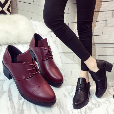 Women Platform Oxfords Brogue Flats Shoes Patent Leather Lace Up Pointed Toe Brand Female high Shoes women Creepers party work n11 brand 2017 spring women platform shoes woman brogue patent leather flats lace up footwear female flat oxford shoes for women