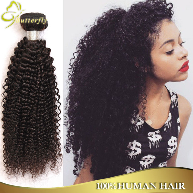 Virgin Natural Kinky Curly Indian Hair 3pcs Lot Wet And Wavy Indian