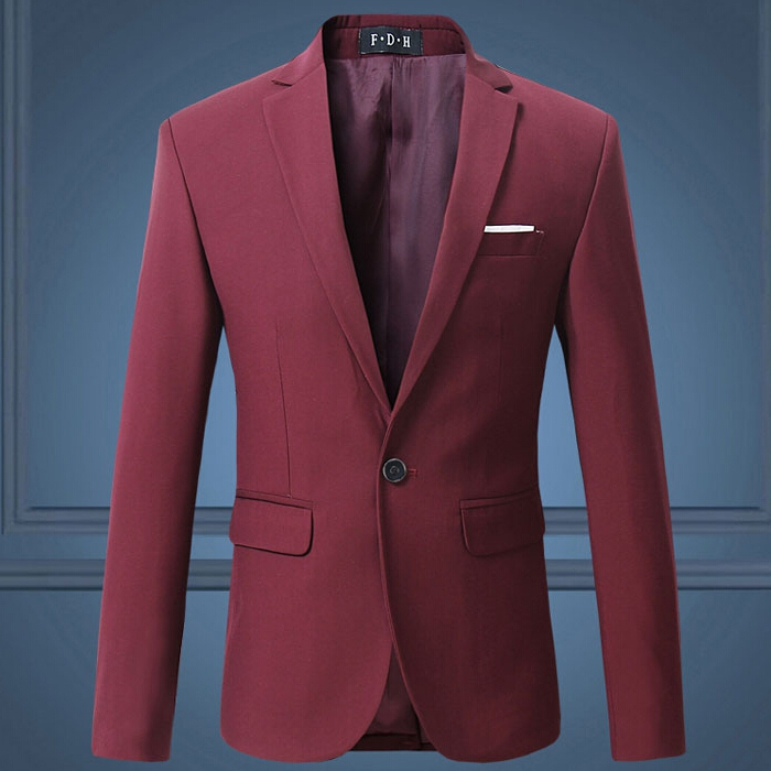 2018 Red Burgundy Navy Blue Black White Casual Slim Fit Formal Jacket Male Suit Blazer Men Plus Size 5XL 6XL