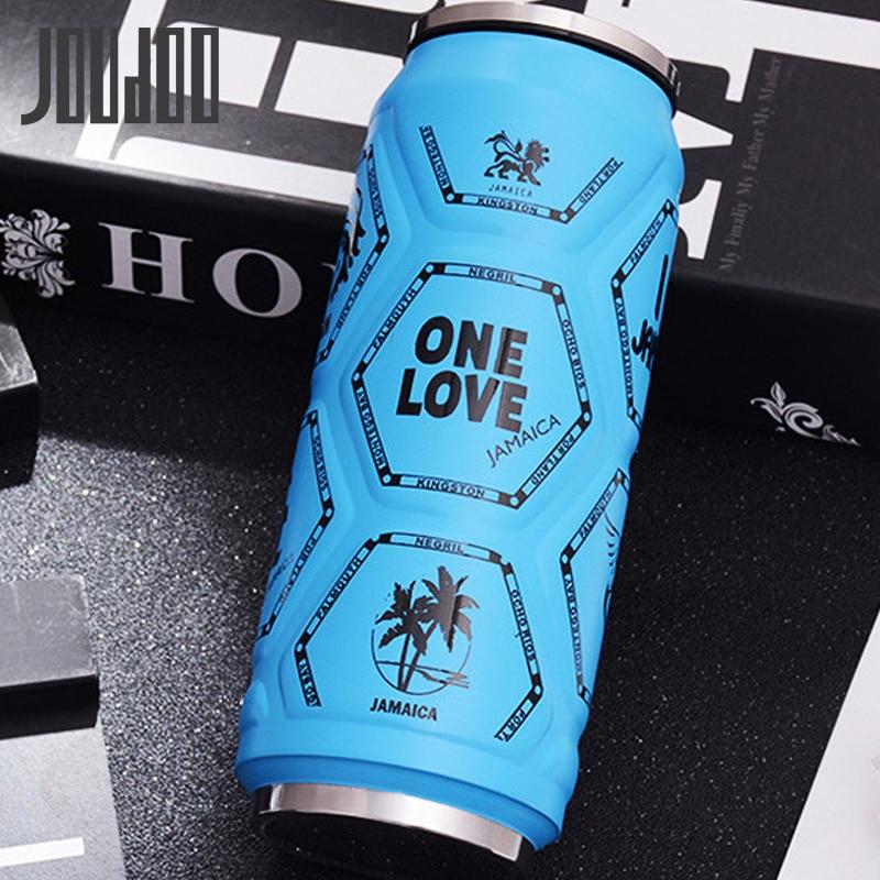 JOUDOO Creative Shape Water Bottle Portable 500ML Large Capacity Vocauum Flasks Outdoor Sports Drinkware 35